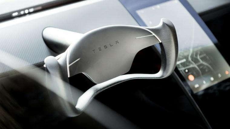 volante del Tesla Roadster