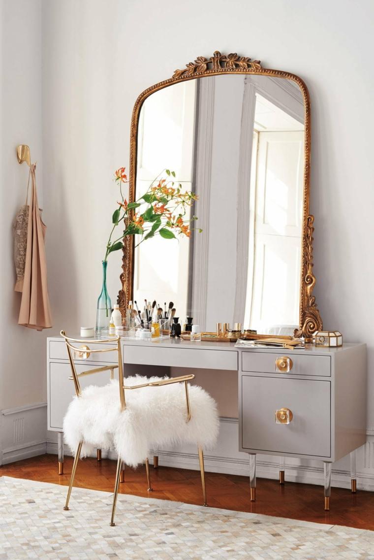 tocadores de maquillaje-espejo-grande-lugar-maquillaje-casa-opciones