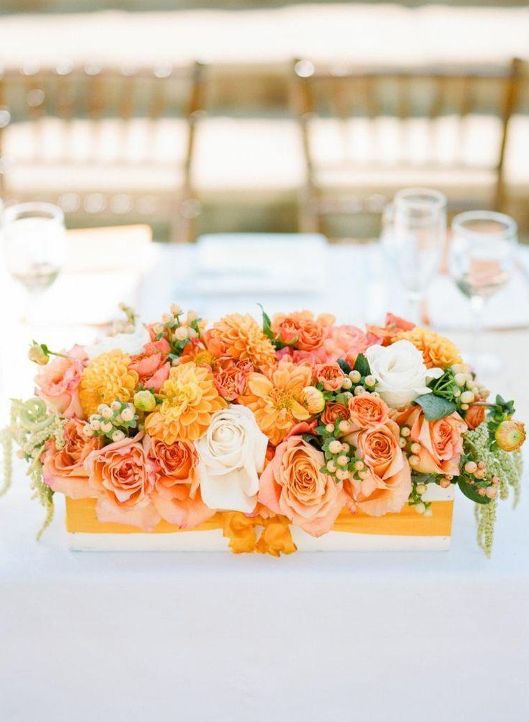 original centro de mesa naranja