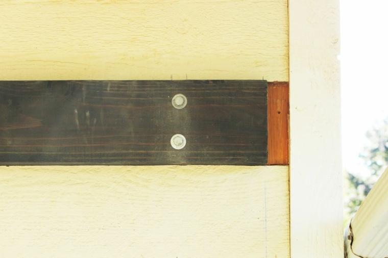 tornillos fijados paredes exteriores