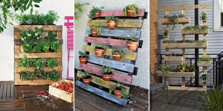 Jardines de palets ideas con palets with jardines de - Maceteros de palets ...