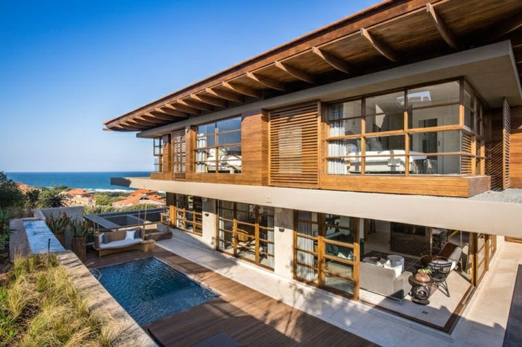 zonas exteriores modernas madera