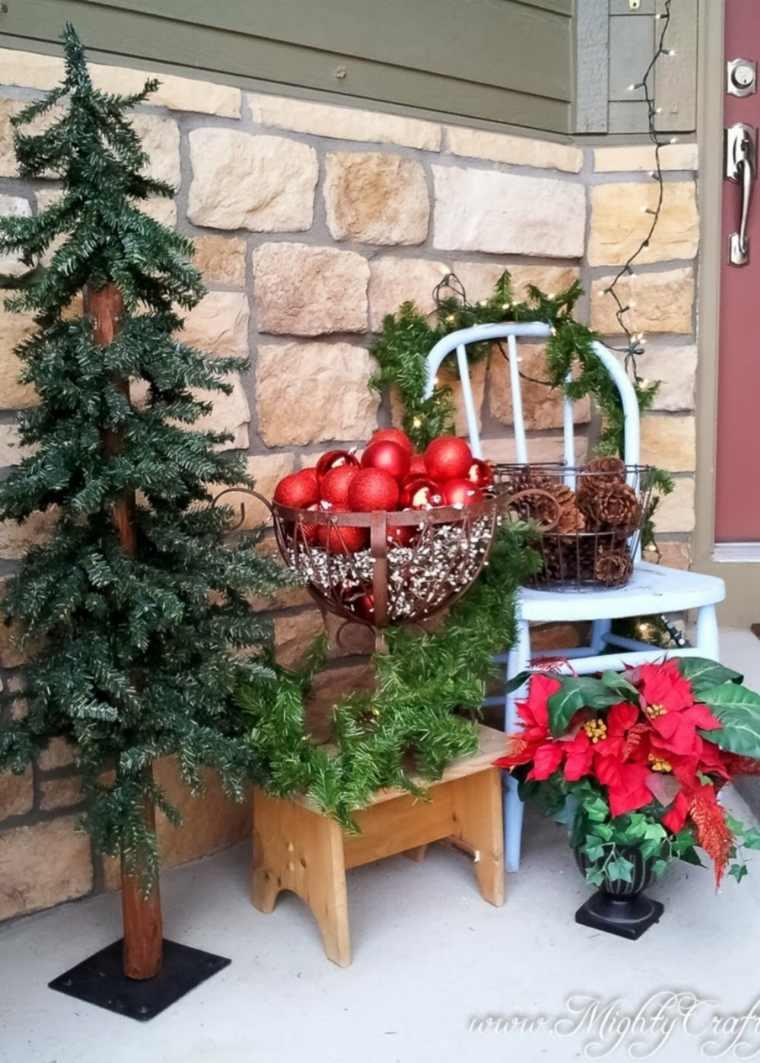 cómo decorar la puerta en Navidad