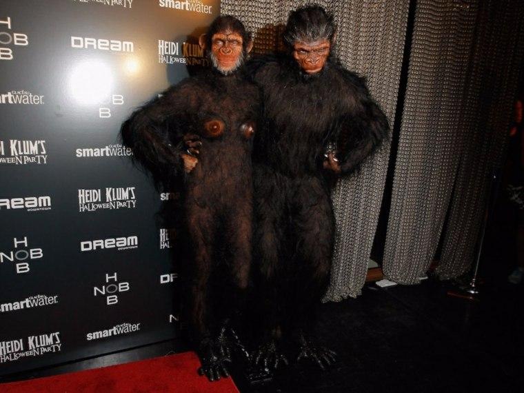 Heidi Klum disfraces chimpance