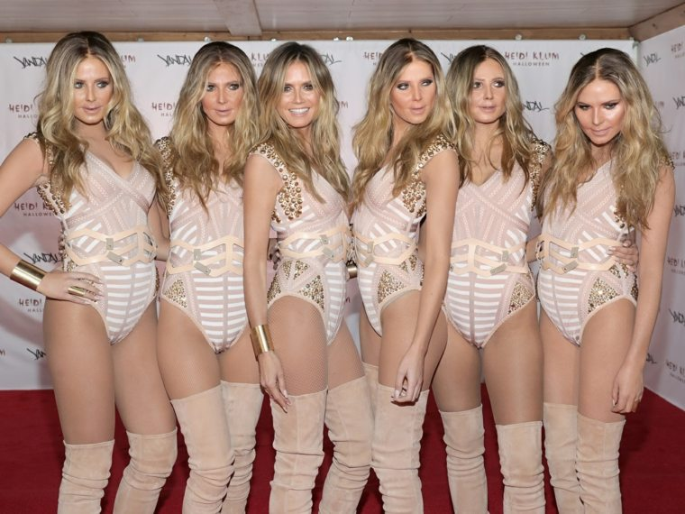 Heidi Klum disfraces dobles