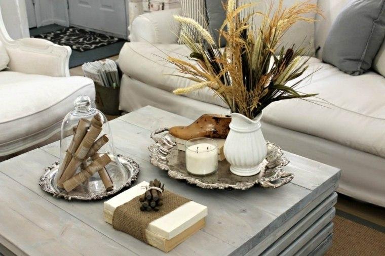 cómo decorar la mesa del salón