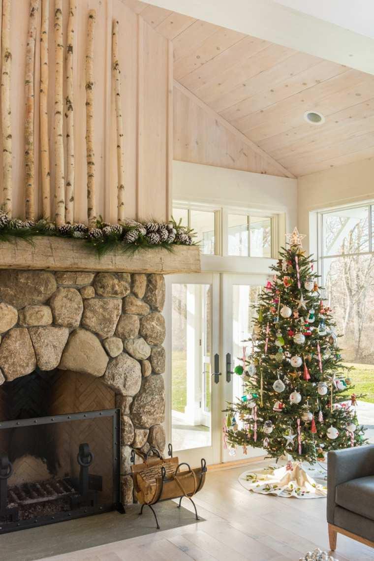 árboles de navidad decorados-casa-diseno-rustico