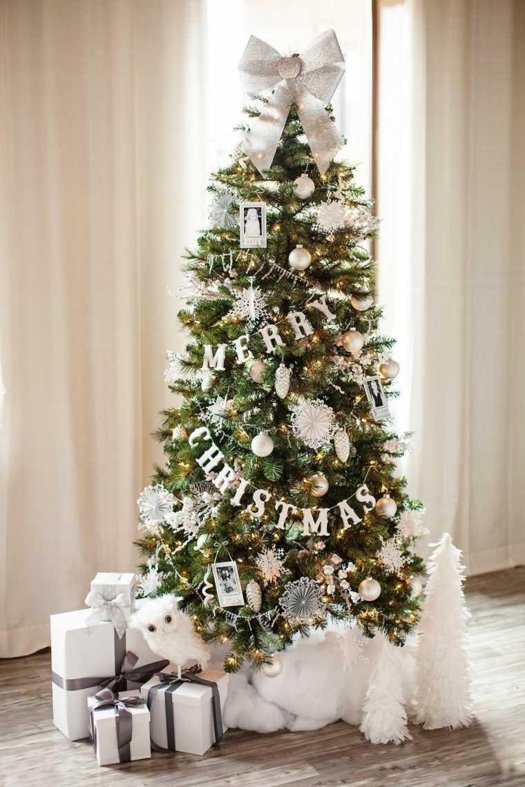 arboles-de-navidad-decorados-guirnalda estilo-moderno