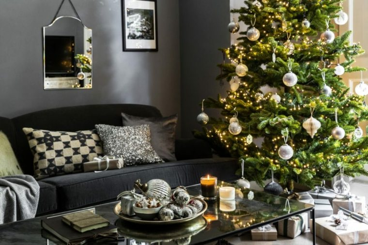 arboles-de-navidad-decorados-salon-diseno-moderno