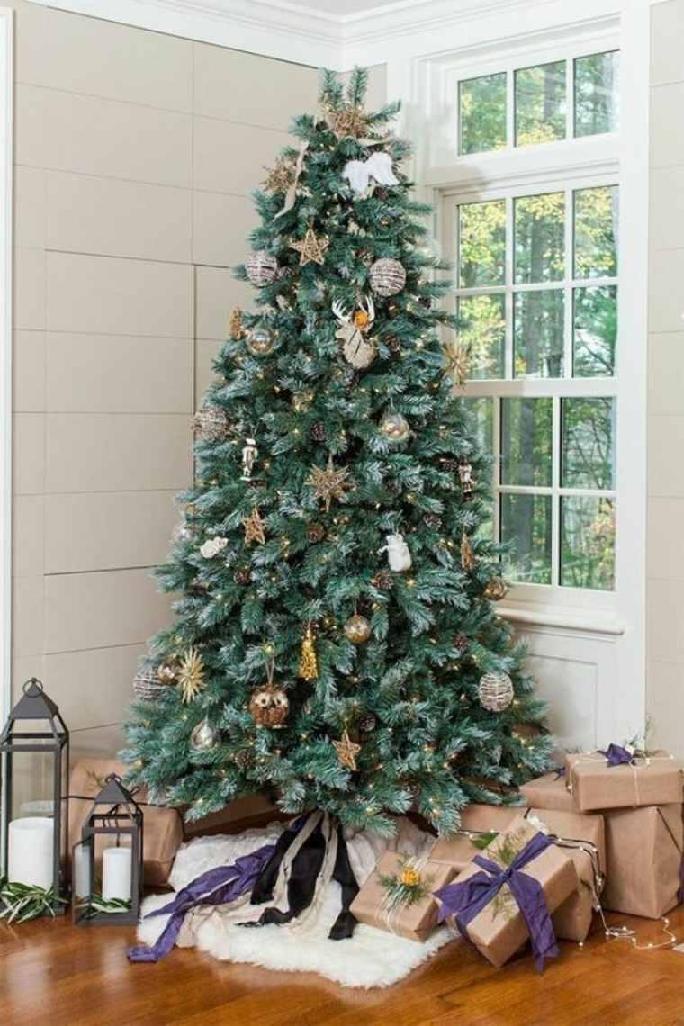 arboles-de-navidad-decorados-simples-adornos-ideas