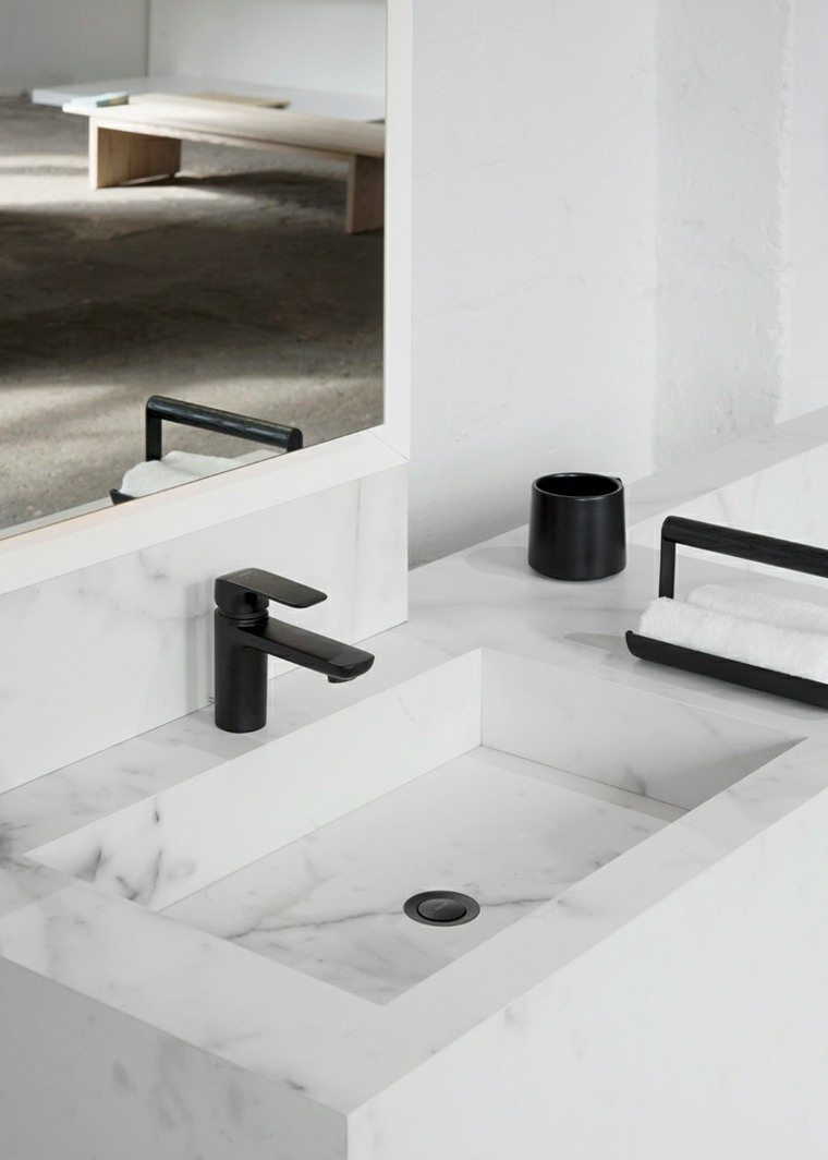 baños de mármol-lavabo