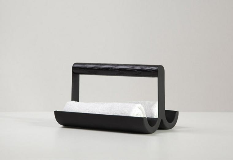 baños de mármol-porta-toallas