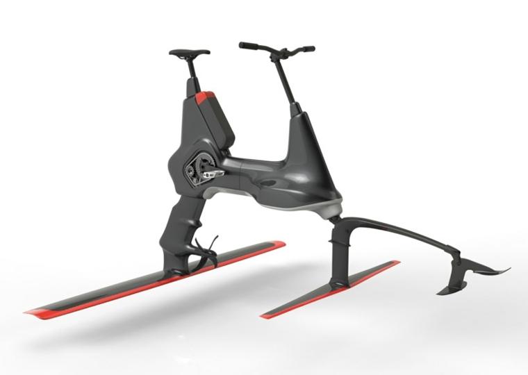 bicicleta manta moderna negra