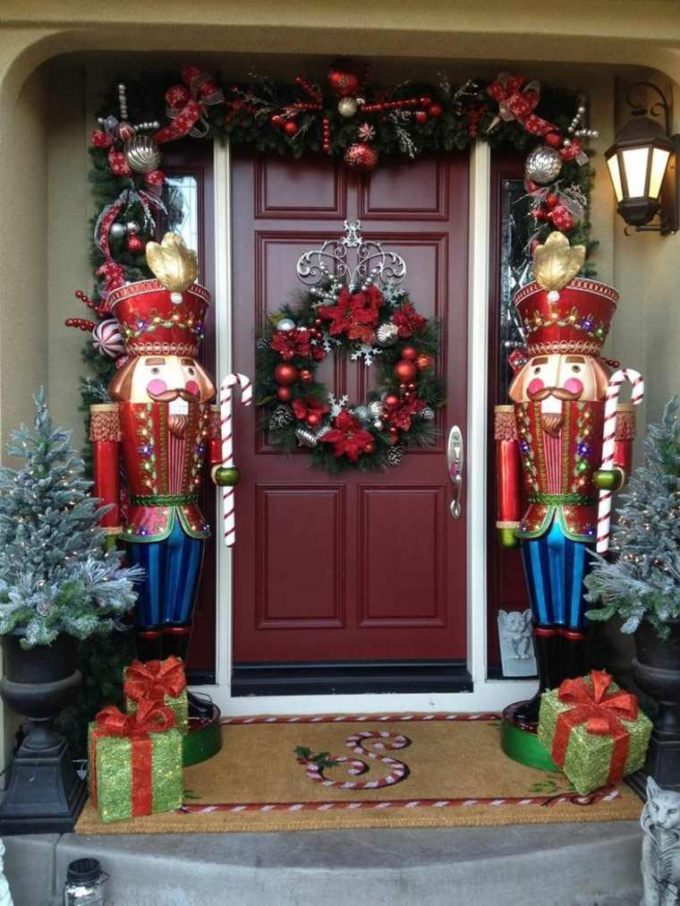 cómo decorar la entrada en navidad