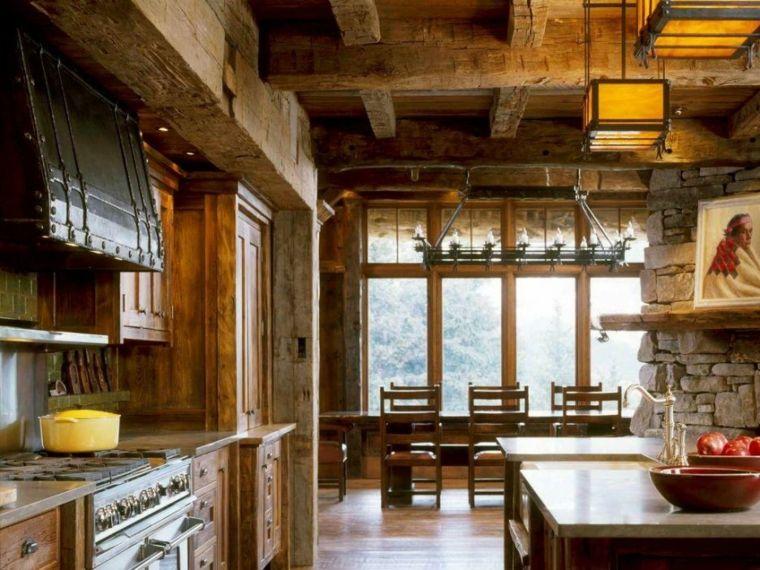 Cocinas rusticas con un acento moderno