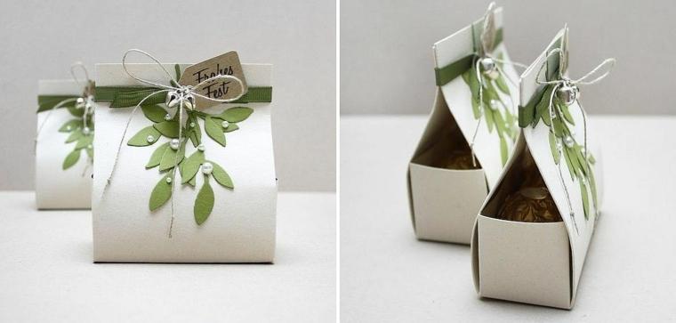 Cajas de cart n decoradas a mano para regalos de navidad - Cajas de carton decoradas para regalos ...