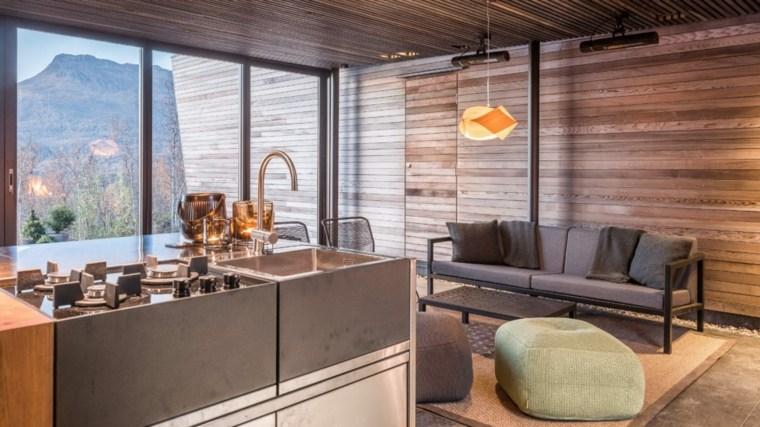 casas-en-noruega-isla-cocina-ventanas