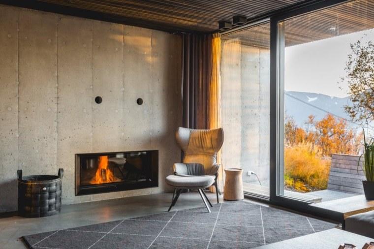 casas-en-noruega-silla-chimenea-estilo