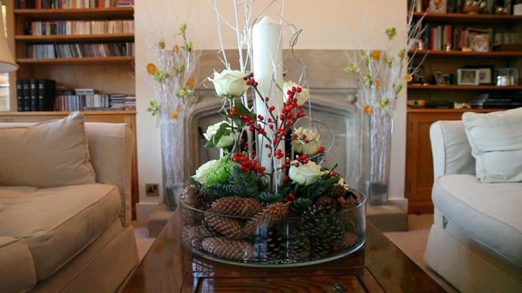ideas fáciles para decorar la mesa del salón