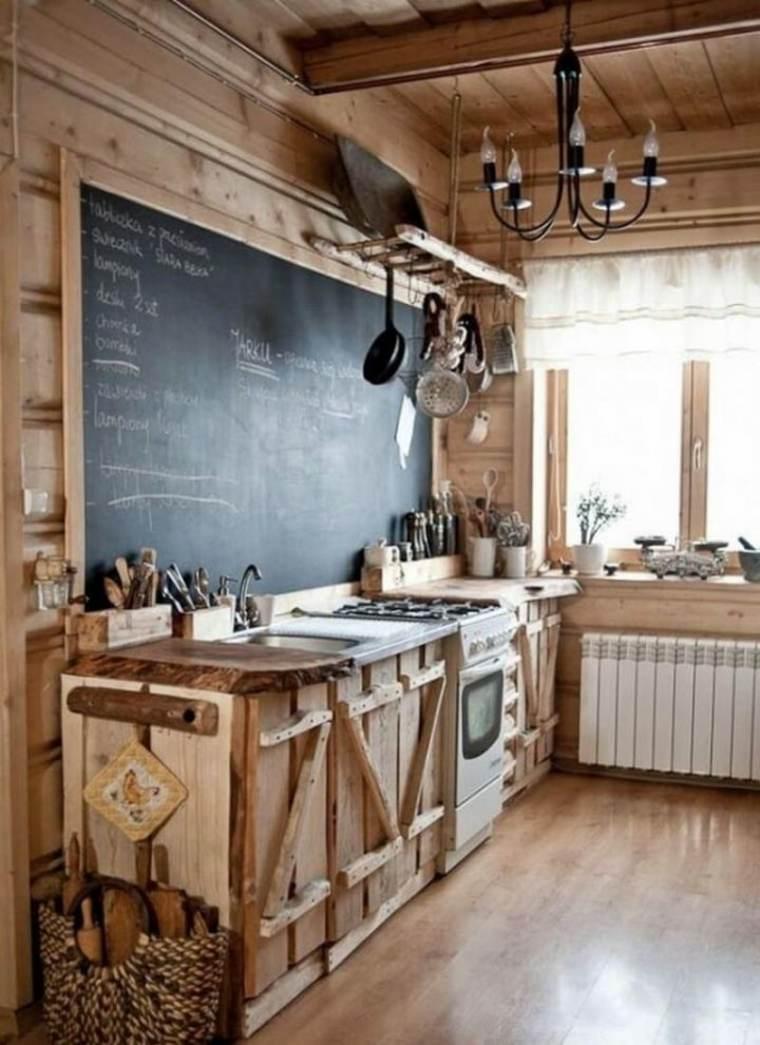 impresionante cocina estilo rústico