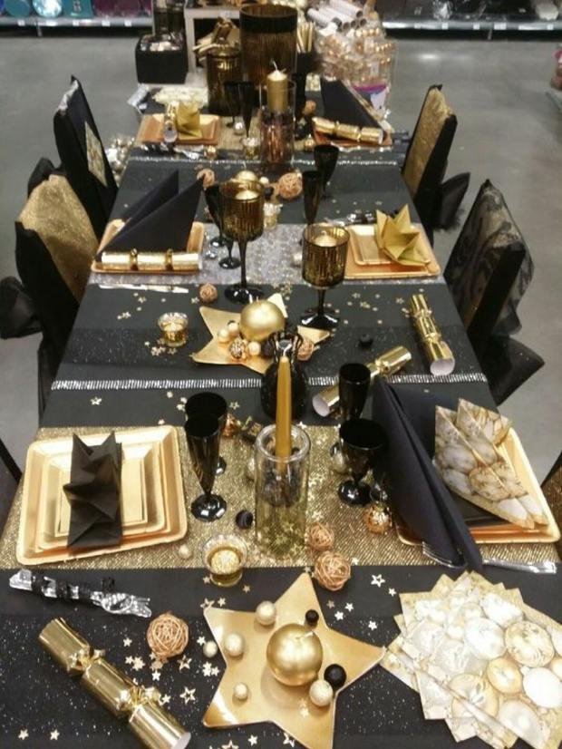 combinaciones dorados negro elegante