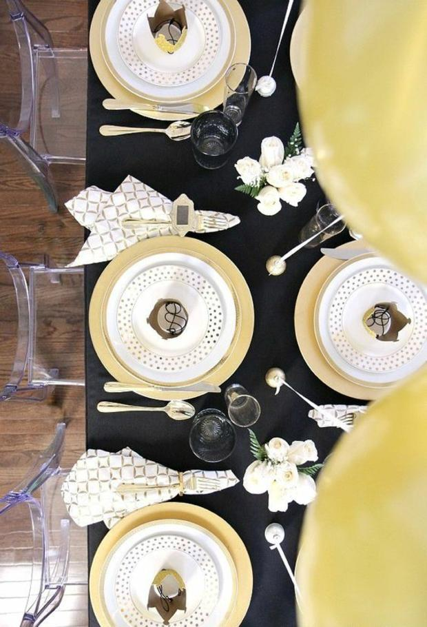 contrastes platos mesa manteles
