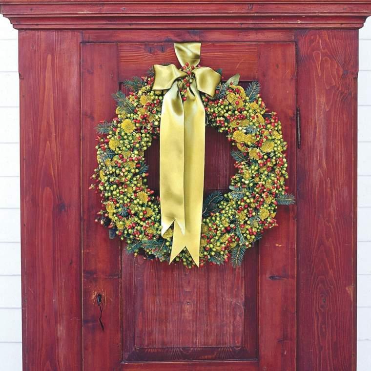 corona-moderna-opciones-verde-decorar-puerta