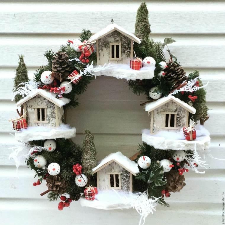 coronas-de-navidad-casitas-opciones