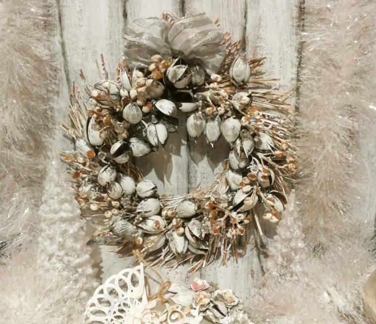 coronas-de-navidad-diseno-bello-plata-oro-blanco