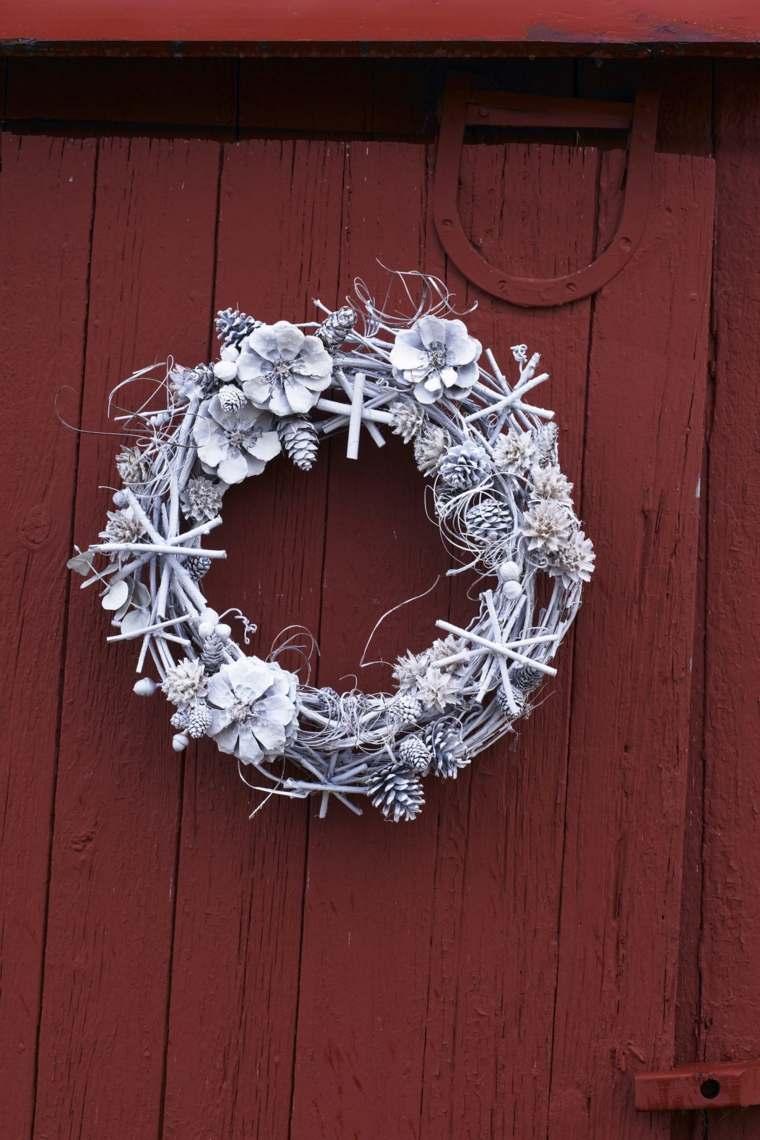 coronas-de-navidad-pintadas-ideas-color-blanco