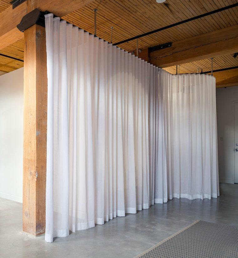 cabina con cortina