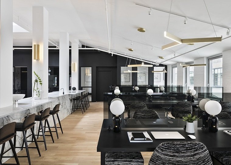 Coworking zona diseñada por The New Work Project en Nueva York -