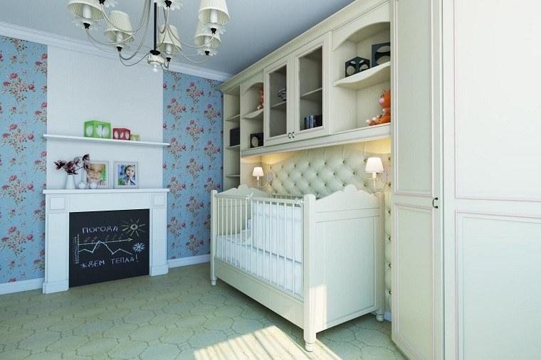 cuna-muebles-blancos-chimenea-habitacion-bebe