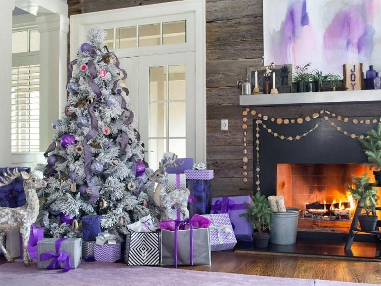 decoracion-arbol-navidad-adornos-purpura-gris