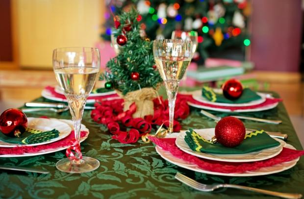decoracion colores clasicos navideños
