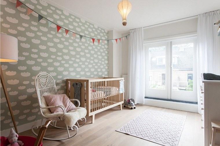 decoracion habitación bebe-papel-pared-estilo