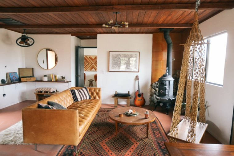 decoración rústica para sala de estar