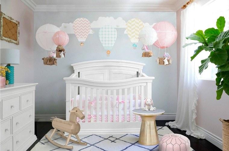 decorar-habitacion-bebe-cuna-blanca-decoracion-belleza-estilo