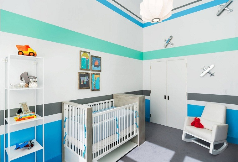 decorar-habitacion-bebe-opciones-azul-blanco-verde
