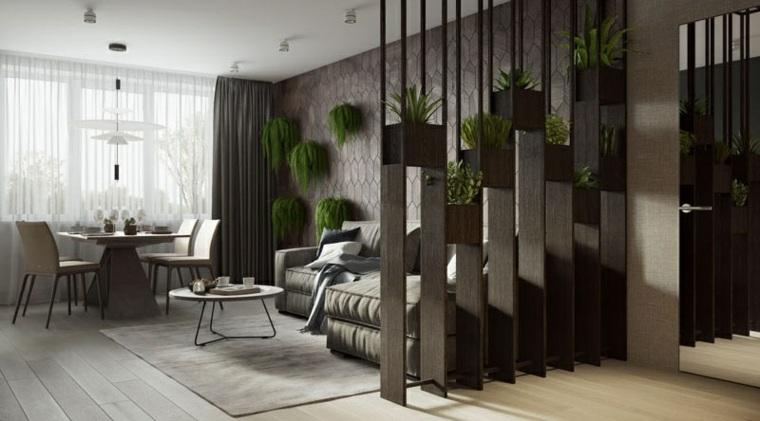 diseño contemporaneo separadores salones