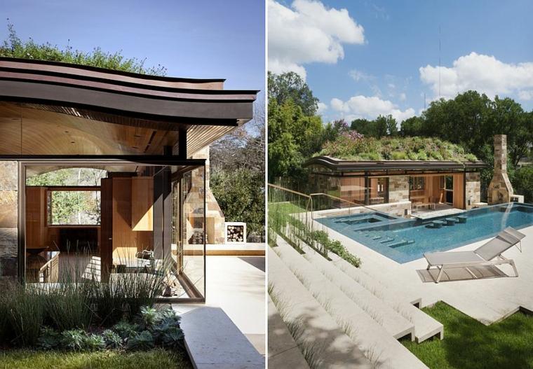 diseño ecologico chimenea exterior