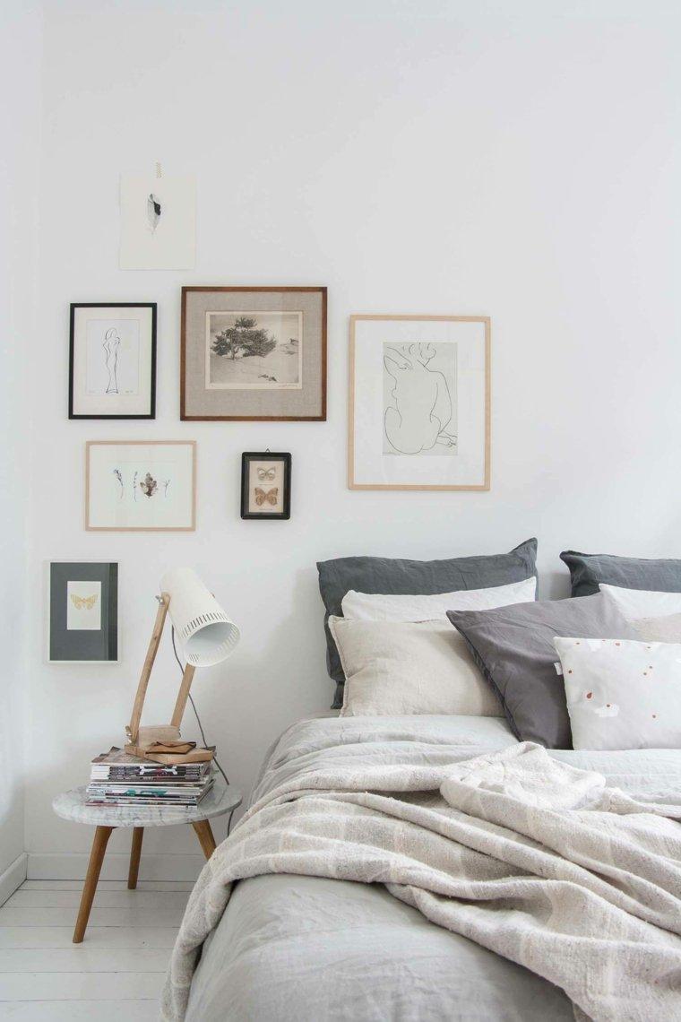 diseño dormitorios blancos decoracion-cuadros