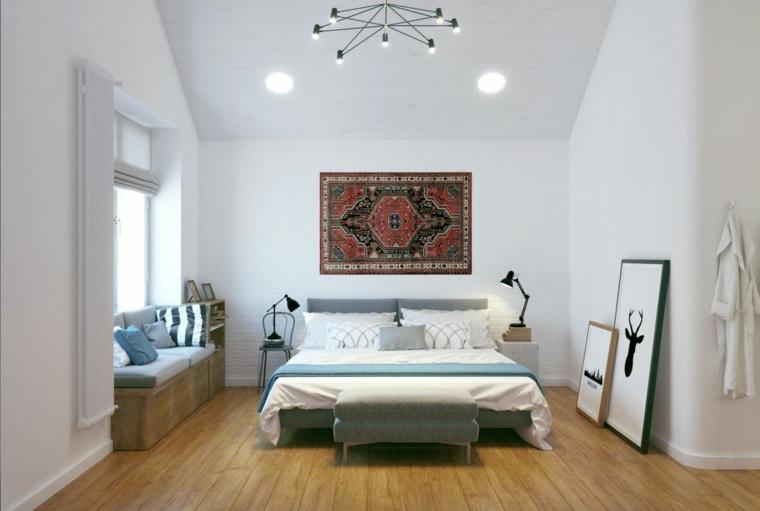 diseño dormitorios blancos decoracion-inesperada-pared