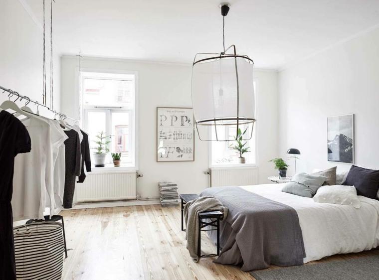 diseño dormitorios blancos-decoracion-plantas