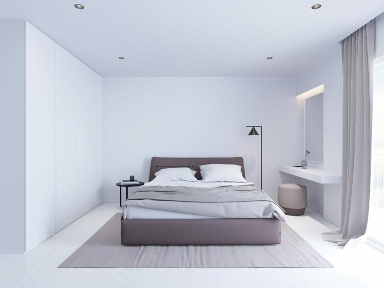 diseño dormitorios blancos-decoracion-simple