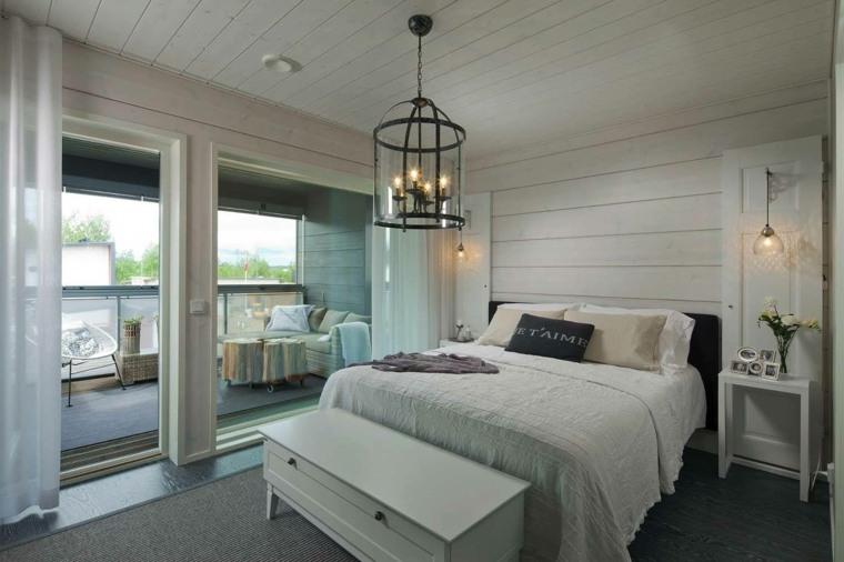 diseño dormitorios blancos estilo-decoracion-simple