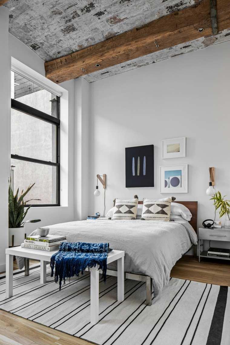 diseño dormitorios blancos-estilo-muebles-moderno