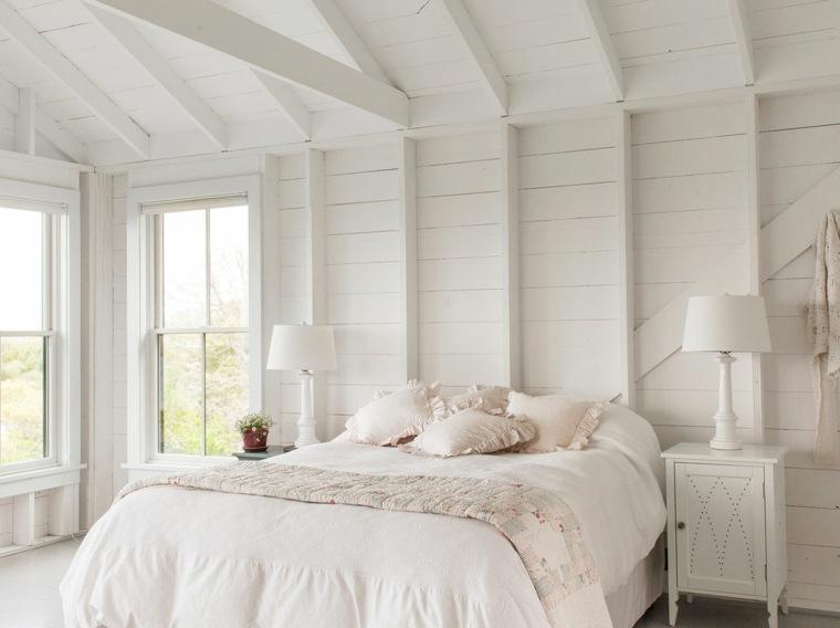 diseno-dormitorios-blancos-estilo-pared-madera