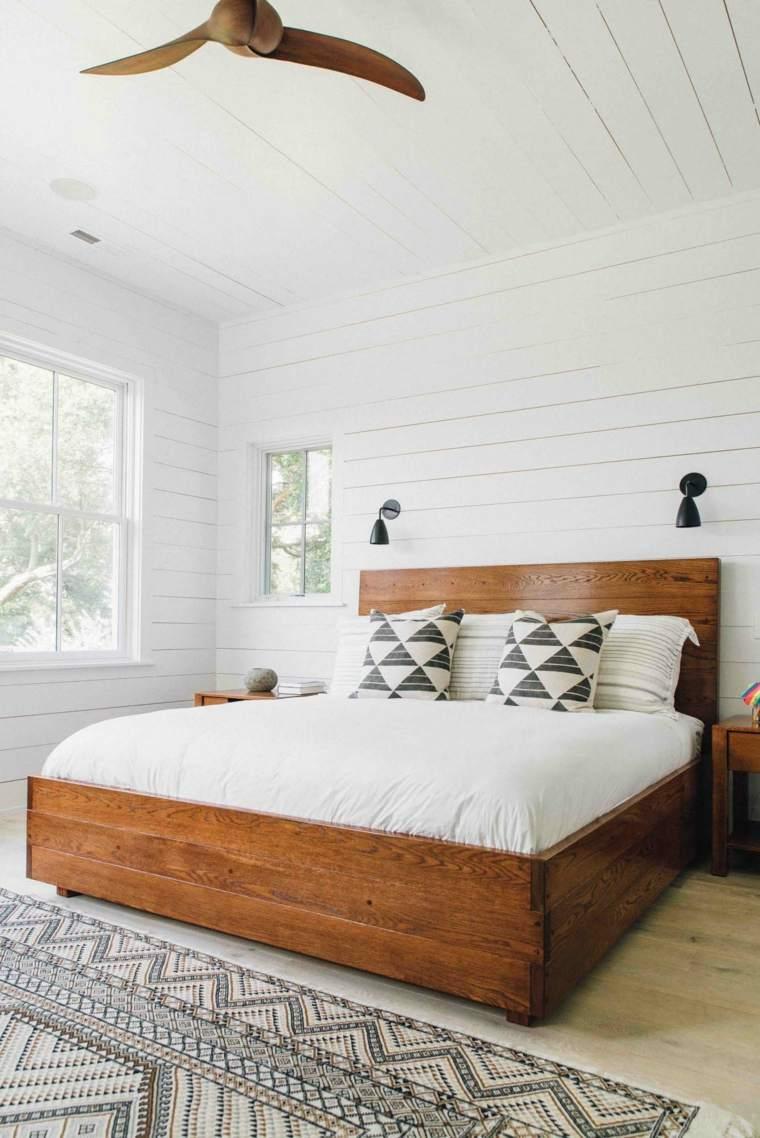 Dise o dormitorios blancos las mejores maneras para for Habitacion lila y blanca