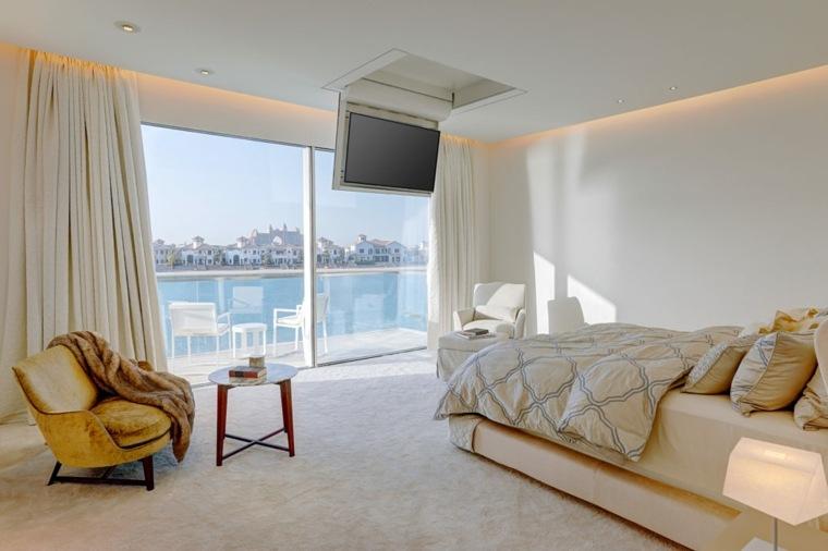 dormitorio moderno vistas encantadoras